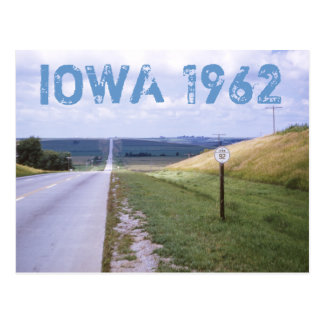 Iowa 1962 Road Trip Postcard