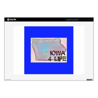 """Iowa 4 Life"" State Map Pride Design 15"" Laptop Decal"