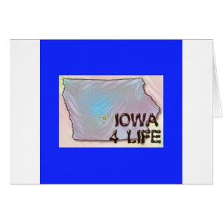 """Iowa 4 Life"" State Map Pride Design Card"