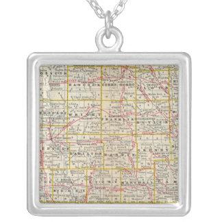 Iowa 6 square pendant necklace