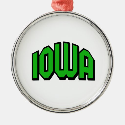 Iowa Adorno Redondo Plateado