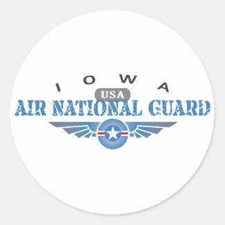 Iowa Air National Guard Round Stickers
