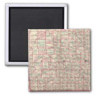 Iowa and Nebraska 2 Inch Square Magnet