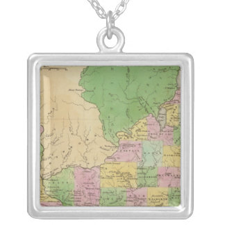 Iowa And Wisconsin Silver Plated Necklace