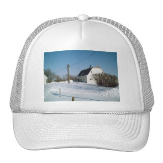 Iowa Barn in the Winter Trucker Hat