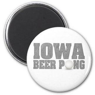 Iowa Beer Pong 2 Inch Round Magnet