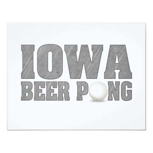 Iowa Beer Pong 4.25x5.5 Paper Invitation Card