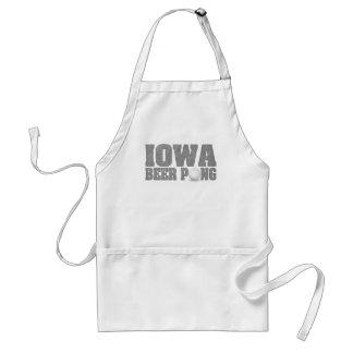 Iowa Beer Pong Adult Apron