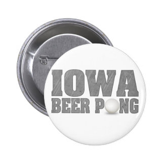 Iowa Beer Pong Button