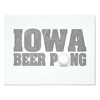Iowa Beer Pong Card