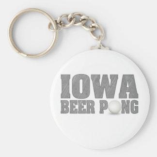 Iowa Beer Pong Keychain