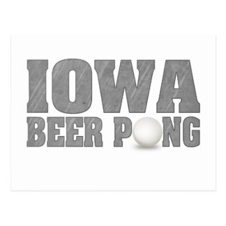 Iowa Beer Pong Postcard
