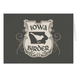 Greeting Card with Iowa Birder design