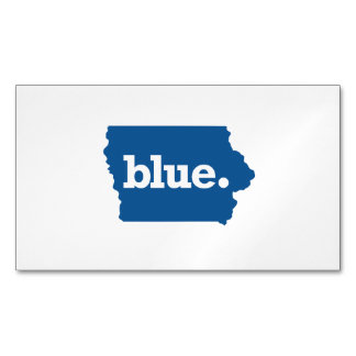 IOWA BLUE STATE MAGNETIC BUSINESS CARD