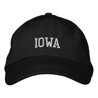 Iowa bordó negro ajustable del casquillo gorra de beisbol