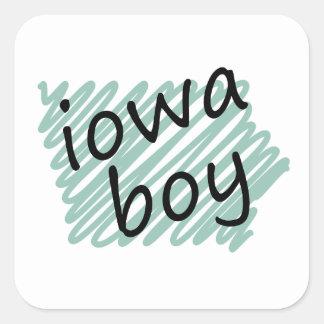 Iowa Boy on Child's Iowa Map Drawing Stickers