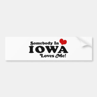 Iowa Etiqueta De Parachoque