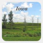 Iowa Calcomanía Cuadradas Personalizadas
