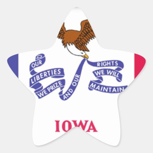 Iowa Calcomanía Forma De Estrella Personalizadas