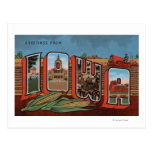 Iowa (campos de maíz y maíz) - escenas grandes de  tarjetas postales