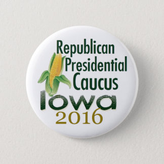IOWA CAUCUS 2016 PINBACK BUTTON