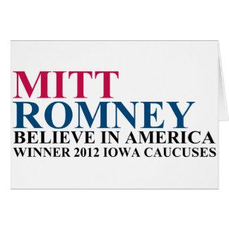 Iowa Caucuses 2012 Card