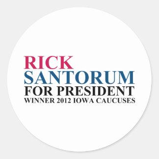 Iowa Caucuses 2012 Classic Round Sticker