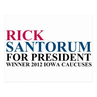 Iowa Caucuses 2012 Postcard