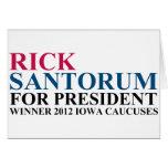 Iowa Caucuses 2012 Tarjeta
