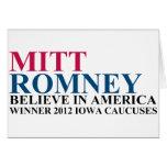 Iowa Caucuses 2012 Tarjetas