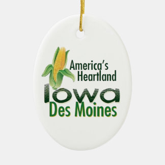 IOWA CERAMIC ORNAMENT