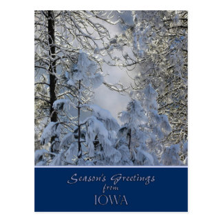 Iowa Christmas Card / state specific post cards