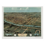 Iowa City, IA Panoramic Map - 1868 Poster