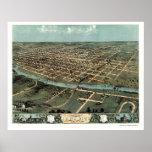 Iowa City, IA Panoramic Map - 1868 Poster