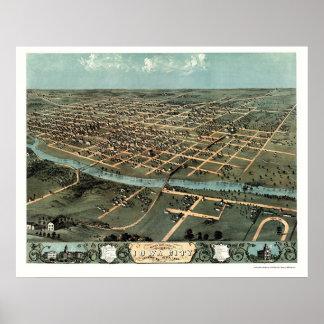 Iowa City IA Panoramic Map - 1868 Posters