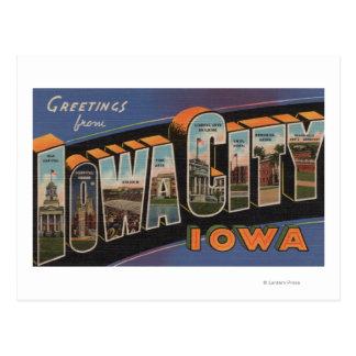 Iowa City Iowa - escenas grandes de la letra Tarjeta Postal