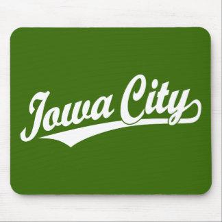 Iowa City script logo in white Mouse Pad