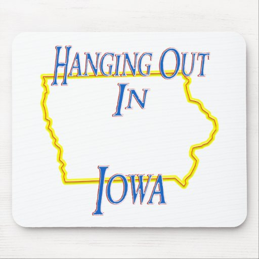 Iowa - colgando hacia fuera tapetes de raton