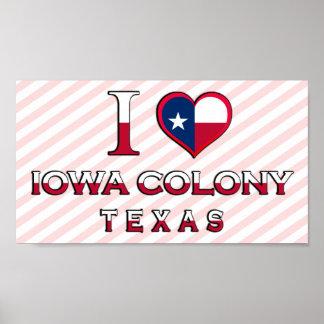 Iowa Colony�, Texas Poster