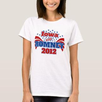 Iowa con Romney 2012 Playera