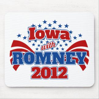 Iowa con Romney 2012 Alfombrillas De Ratones