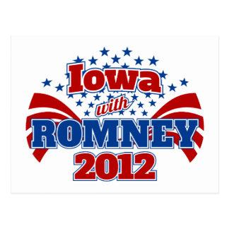 Iowa con Romney 2012 Postal