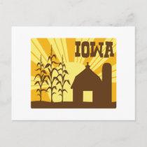 Iowa Corn Farm Postcard