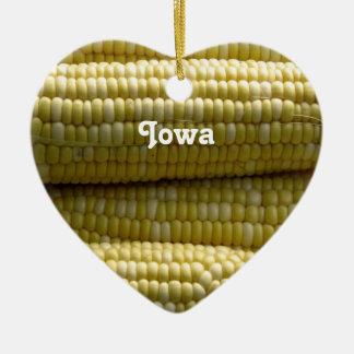 Iowa Corn on the Cob Ceramic Ornament