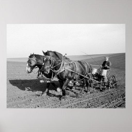 Iowa Corn Planter, 1940s Poster