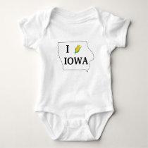 Iowa Corn Shirt- Corny spin off of the I heart NY Baby Bodysuit