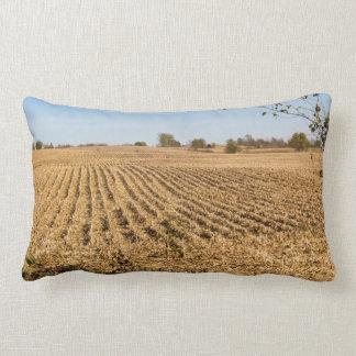 Iowa Cornfield Panorama Lumbar Pillow