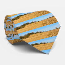 Iowa Cornfield Panorama Photo Neck Tie