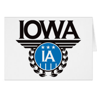 Iowa Crest Design Greeting Card