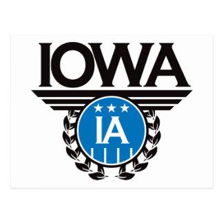 Iowa Crest Design Postcard